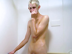 Erik Takes a In one\'s birthday suit Shower to Wake Up